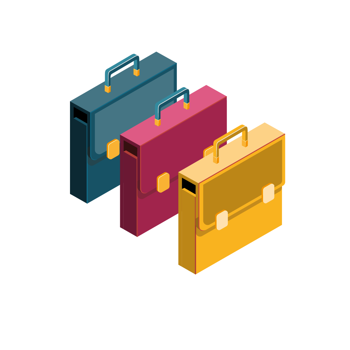 coloured-briefcases